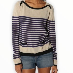Pins and Needles Hooded Striped Pullover Sweater S